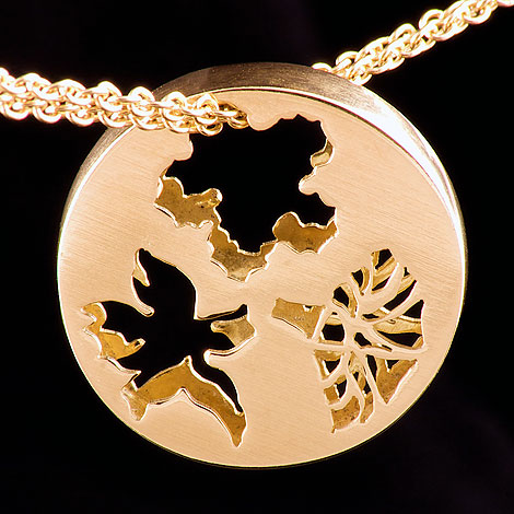 Double Sided Flower Pendant