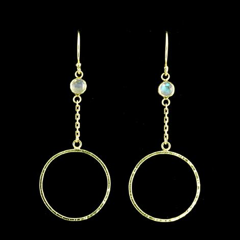 Hammered Dangling Hoops