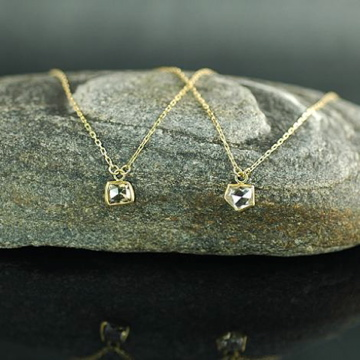 Irregular Champagne Diamond Necklace
