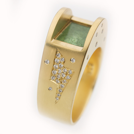 """""""Electric Evening"""" Ring"""
