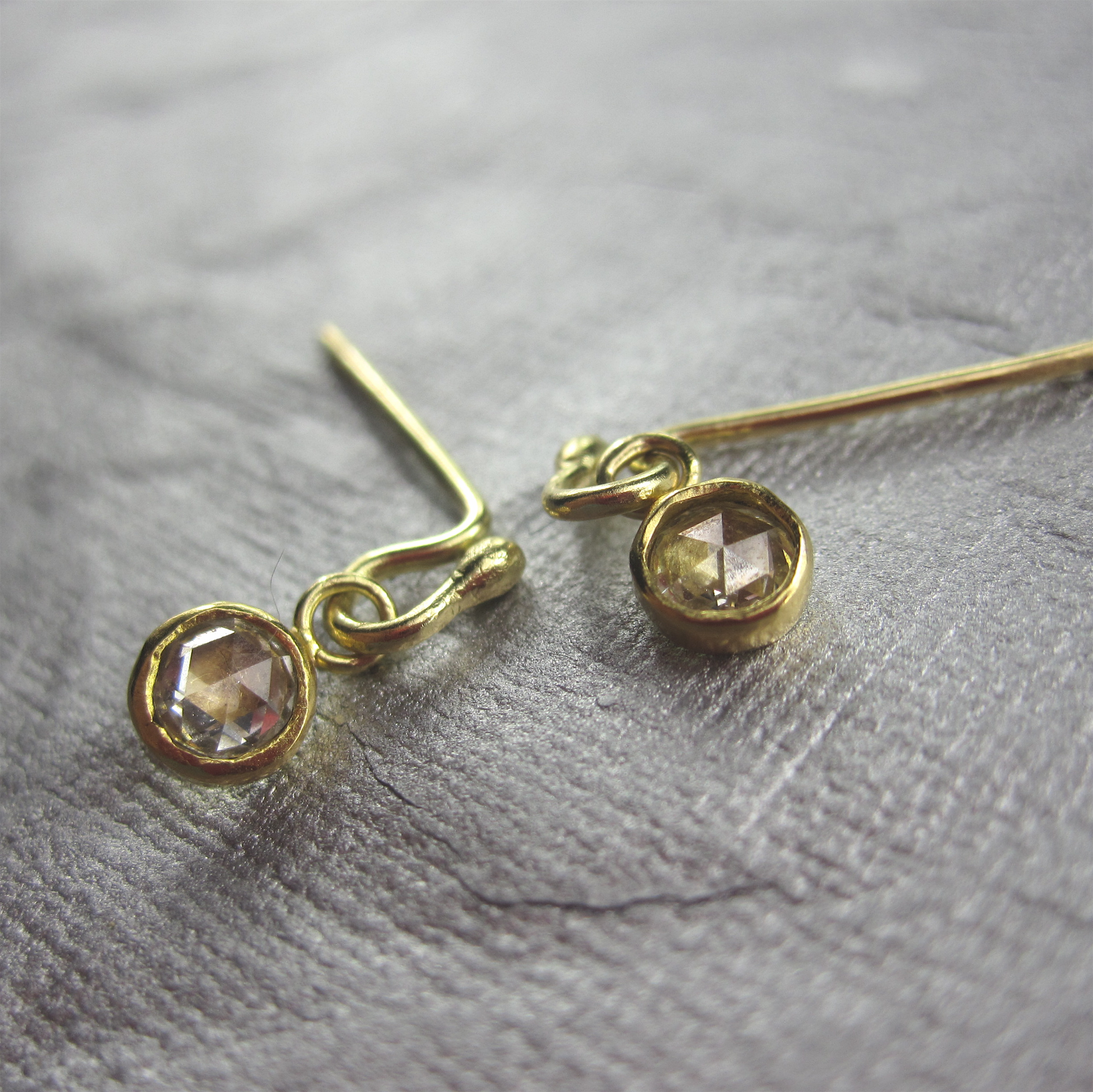 Dainty Diamond Dangles
